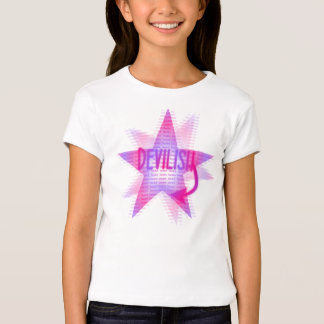 Devilish Star - Girls Baby Doll (Fitted) T-Shirt