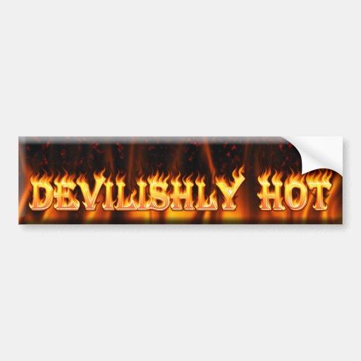 devilishly hot bumper stickers