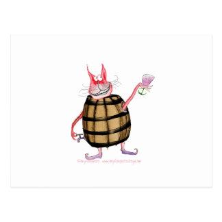 devilled cat 7, tony fernandes postcard