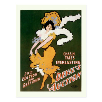 """Devil's Auction"" Vintage Theater Postcard"