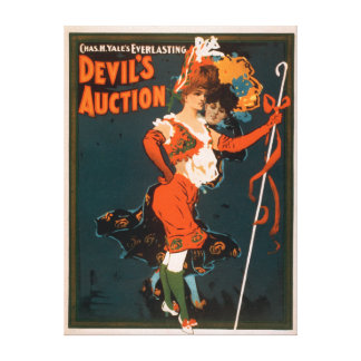 Devil's Auction Woman in Costume Theatre 3 Stretched Canvas Prints