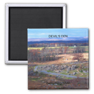 DEVIL'S DEN SQUARE MAGNET