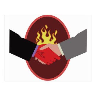 Devils Handshake Postcard