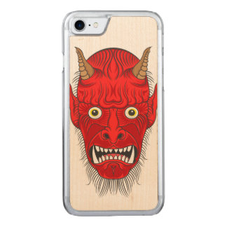 Devil's Head Illustration Carved iPhone 8/7 Case