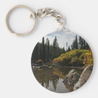 Devils Lake, Bend, Oregon Basic Round Button Key Ring