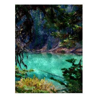 Devils Lake, Oregon Artwork Postcard