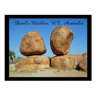 Devil's marbles, NT, Australia Postcard