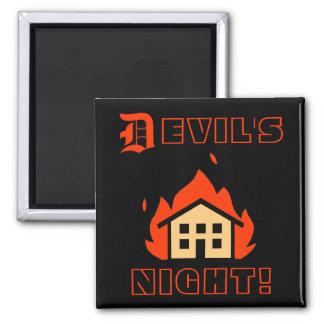 DEVIL'S NIGHT - DETROIT SQUARE MAGNET