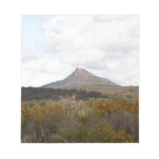 Devil's Peak, near Quorn, Outback Australia Notepad