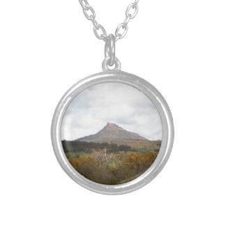Devil's Peak, near Quorn, Outback Australia Silver Plated Necklace