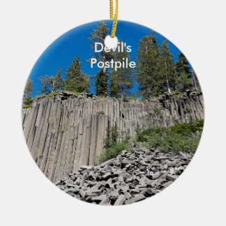 Devil's Postpile Ceramic Ornament