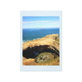 Devil's Punchbowl & Otter Rock Canvas Print