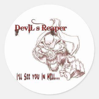 Devil's Reaper Classic Round Sticker
