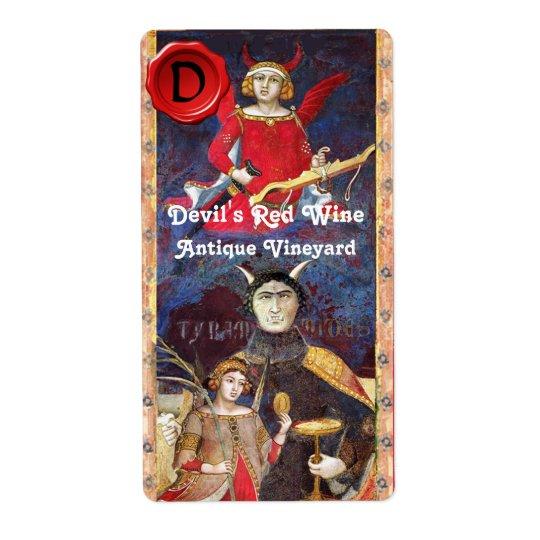 DEVIL'S RED WINE WAX SEAL MONOGRAM /ANTIQUE TAROTS