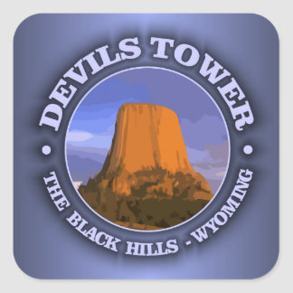 Devils Tower 3 Square Sticker