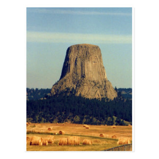 Devils Tower  in Wyoming Postcard