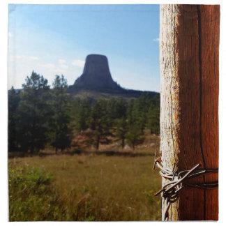 Devils Tower National Monument Cloth Napkin