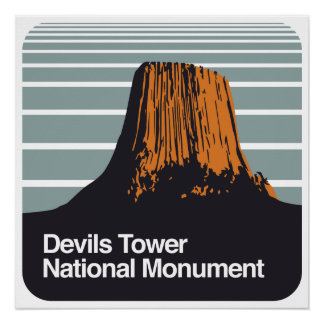 Devils Tower National Monument Poster