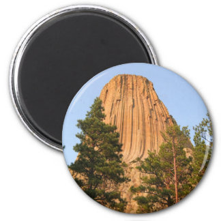 Devils Tower National Monument, Wyoming 6 Cm Round Magnet
