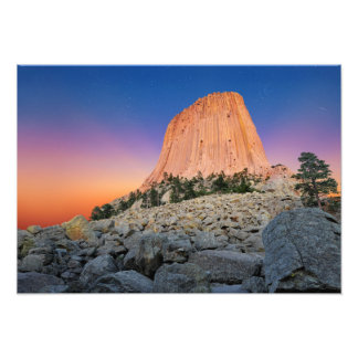Devils Tower National Monument, Wyoming USA Photo Print