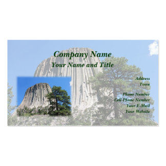 Devils Tower, Wyoming Business Card Template