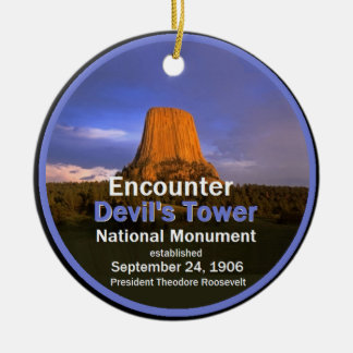 Devil's Tower WYOMING Ceramic Ornament