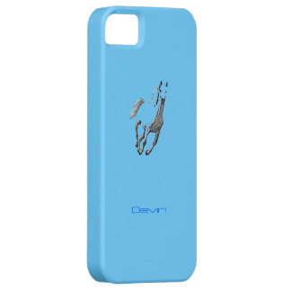 Devin blue iPhone 5 cover with wild horse