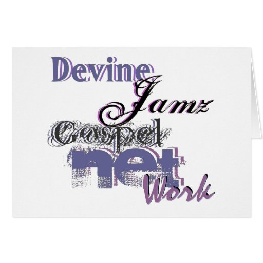 Devine Jamz Gospel Network Greeting Card