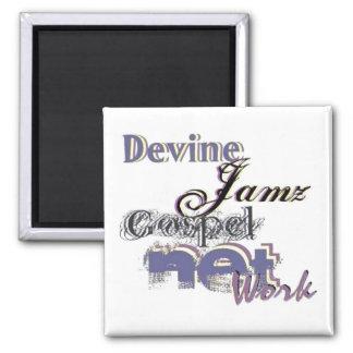 Devine Jamz Gospel Network Fridge Magnet
