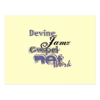 Devine Jamz Gospel Network Postcard