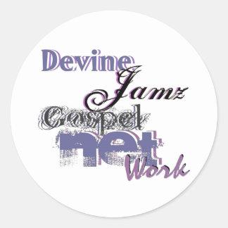 Devine Jamz Gospel Network Round Sticker