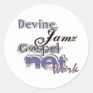 Devine Jamz Gospel Network Stickers