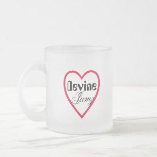 Devine Jamz Luv Frosted Glass Mug