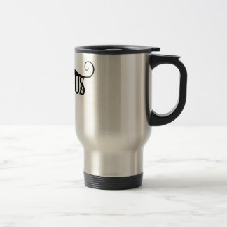 Devious Moustache Stainless Steel Travel Mug