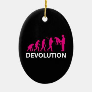 Devolution Evolution Funny Reissue Ceramic Ornament