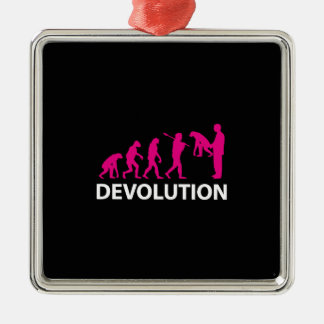 Devolution Evolution Funny Reissue Metal Ornament