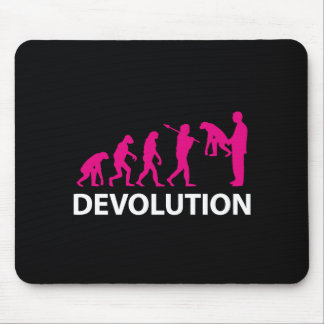 Devolution Evolution Funny Reissue Mouse Pad