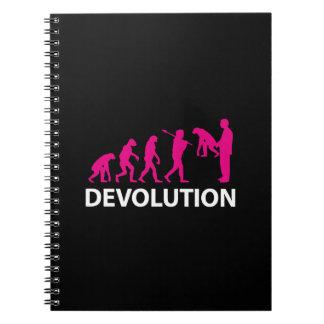 Devolution Evolution Funny Reissue Notebook