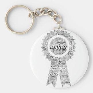 Devon Horse Show Ribbon Key Ring