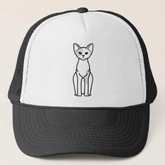Devon Rex Cat Cartoon Trucker Hat