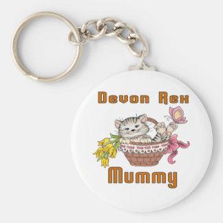 Devon Rex Cat Mom Key Ring