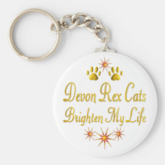 Devon Rex Cats Brighten My Life Key Ring