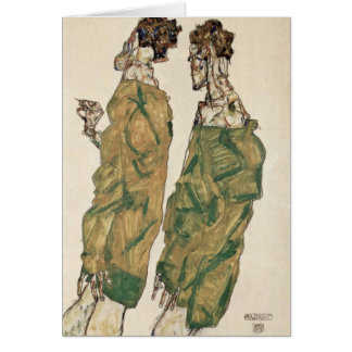 Devotion By Egon Schiele Card