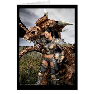 Devotion Dragon Rider Greeting Card