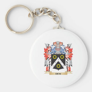 Dew Coat of Arms - Family Crest Basic Round Button Key Ring