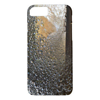 Dew Covered Spider Web iPhone 7 Case