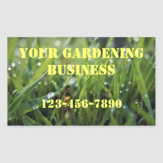 Dew Drop Grass Gardening Business Stickers