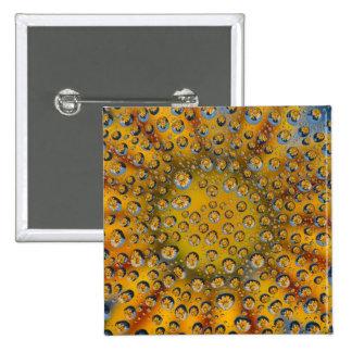 Dew Drop reflection of flower, Crescent City, 15 Cm Square Badge