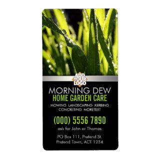 Dew Drops Grass Garden Nature w/ Logo Business