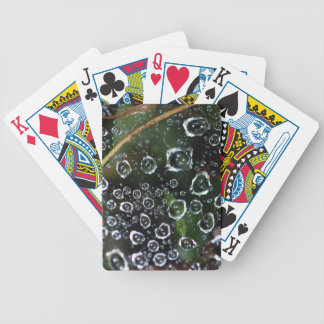 Dew drops in a spider net bicycle playing cards